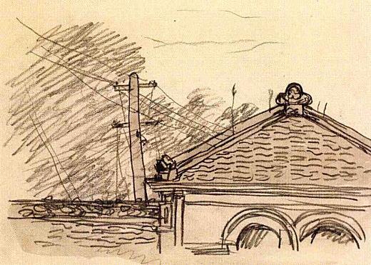 『洋館の屋根と電柱』(No.25).jpg