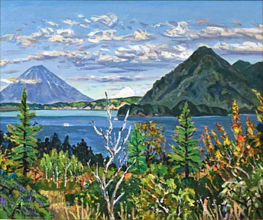 中村善策「洞爺湖と蝦夷富士」1977.jpg