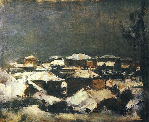 佐伯祐三「雪景色」1926-27.jpg
