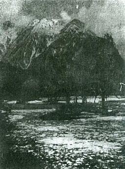 吉田博「上高地より穂高岳を望む」1921.jpg