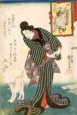 国芳「艶姿十六女仙豊干禅師」1848-54.jpg