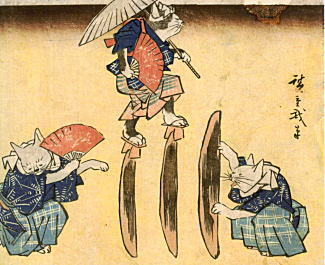 安藤広重「にゃん喰渡り」1842.jpg