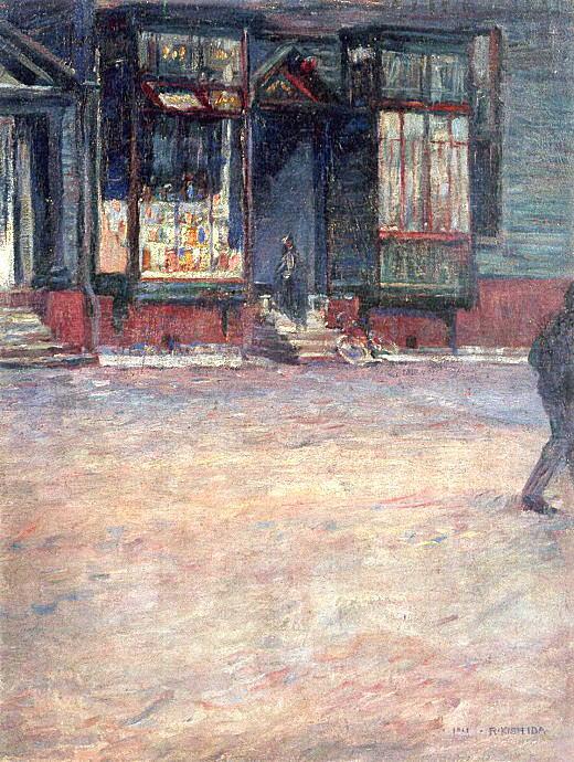 岸田劉生「築地風景」1911.jpg