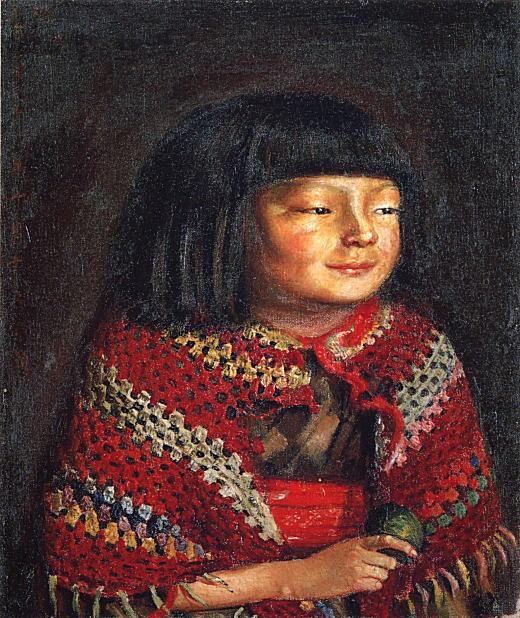 岸田劉生「麗子微笑(青果持テル)」1921.jpg