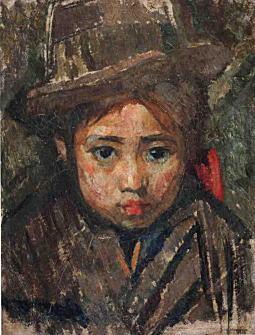 帽子を被る少女1912.jpg