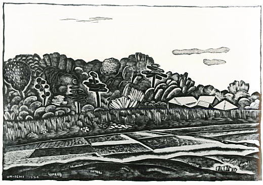 平塚運一「駒沢村風景」1924.jpg