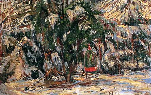庭の雪1918.jpg