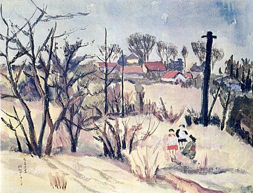 春日部たすく「長崎(池袋よりのぞむ)」1929.jpg