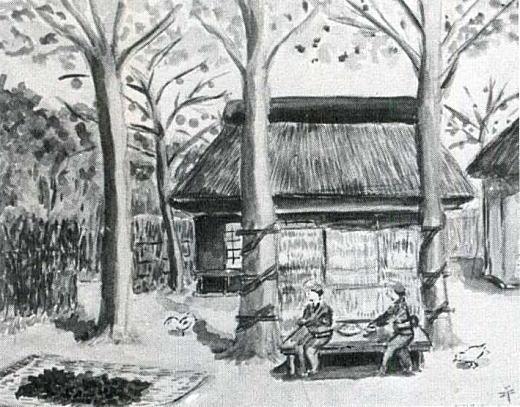 本橋司「長崎町の農家」1932頃.jpg