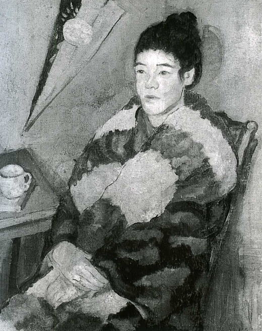 松下春雄「婦人座像」1924.jpg