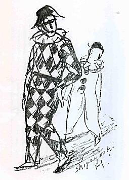 林重義「ピエロとアルルカン」1933.jpg