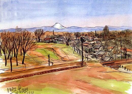 濱田煕「三角山から富士山」.jpg