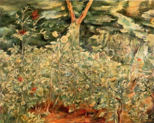 牧野虎雄「園の花」1922.jpg
