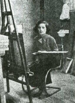 画室の藤川栄子1934.jpg
