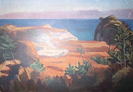 益田義信「外房の夕暮」1938.jpg