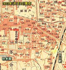 目白中学校地形図1923.jpg