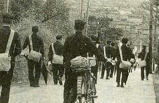 目白商業下校風景1930年代.jpg