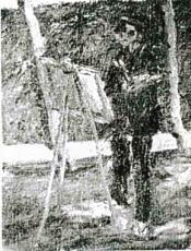 笠原吉太郎「下落合風景を描く佐伯」192704.jpg