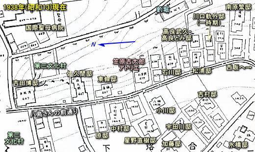 笠原邸周辺「火保図」1938.jpg