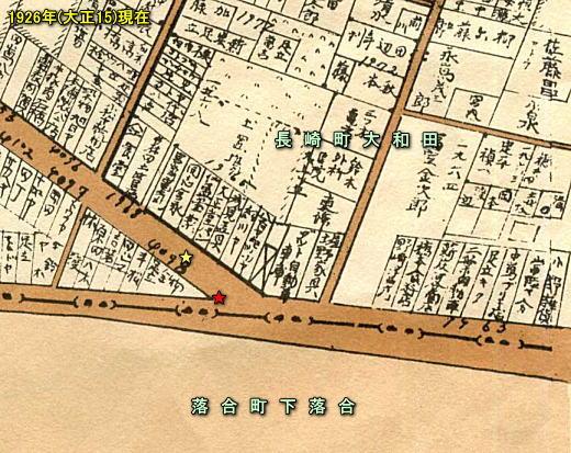 絵はがき「長崎町事情明細図」1926.jpg