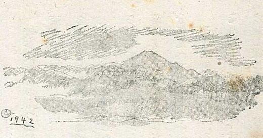 織田一磨「武蔵野からみた富士山」1942.jpg