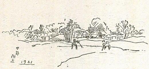 織田一麿「中野附近(落合)」1921.jpg