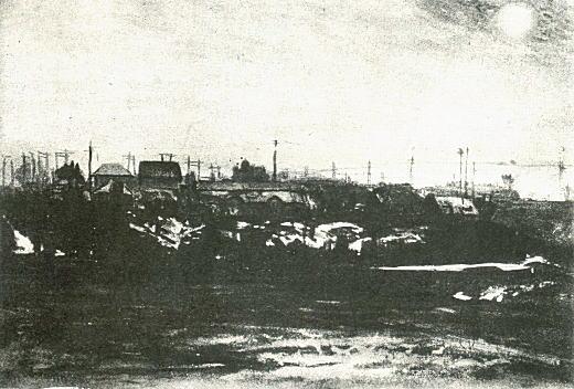 織田一麿「高田馬場付近」1911.jpg