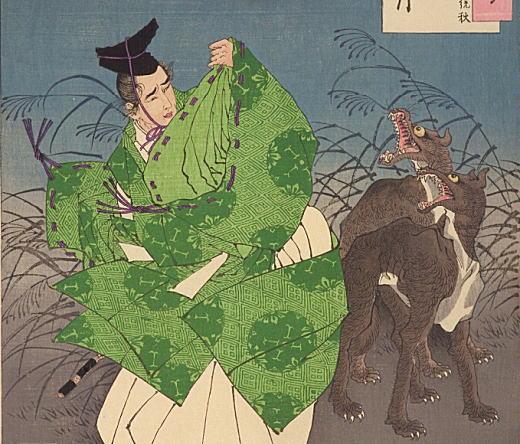 芳年「月百姿 北山月 藤原統秋」1886.jpg