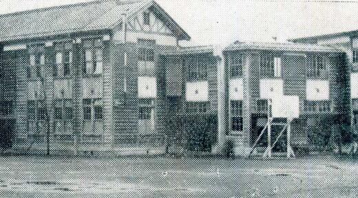 落合第二小学校東側ウィング1932.jpg