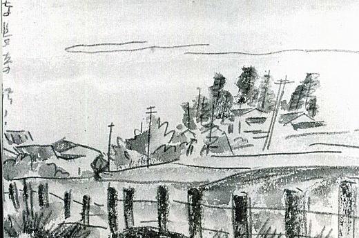 野口義恵「東長崎の駅から」1935頃.jpg