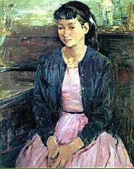 鬼頭鍋三郎「室内の少女」1959.jpg