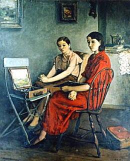 鬼頭鍋三郎「画室」1934.jpg