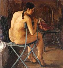 鬼頭鍋三郎「背向きの裸婦」1930.jpg